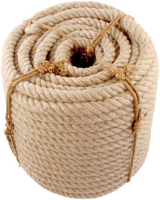 HHUT Cuerda de cáñamo - Cuerda de cáñamo Cuerda Atada Cuerda de Yute Retro Manual DIY Accesorios Hechos a Mano Decoración nórdica para Mascotas Gato Captura para Mascotas - 26 Mm / 30 Mm 5-10 M