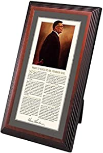 Successories 1.25 in. Stepped Mahogany-Lombardi Framed Desktop Print