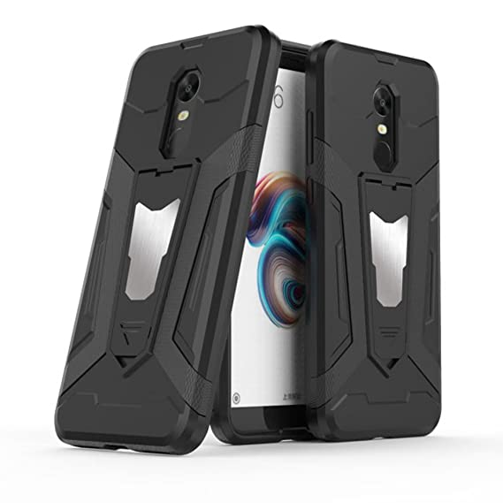 quality design fd53c 5398a Xiaomi Redmi 5 Plus Case, Ranyi [3 Piece Full Body Armor] [Built-in  Kickstand] [Shock Absorbing] Metal Texture Rugged Rubber 360 Protective 3  in 1 ...