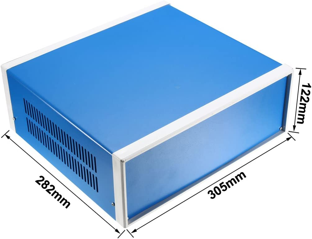 sourcing map Projet bleu m/étal Bo/îtier jonction Cas 170x130x80mm 6.69x5.12x3.15
