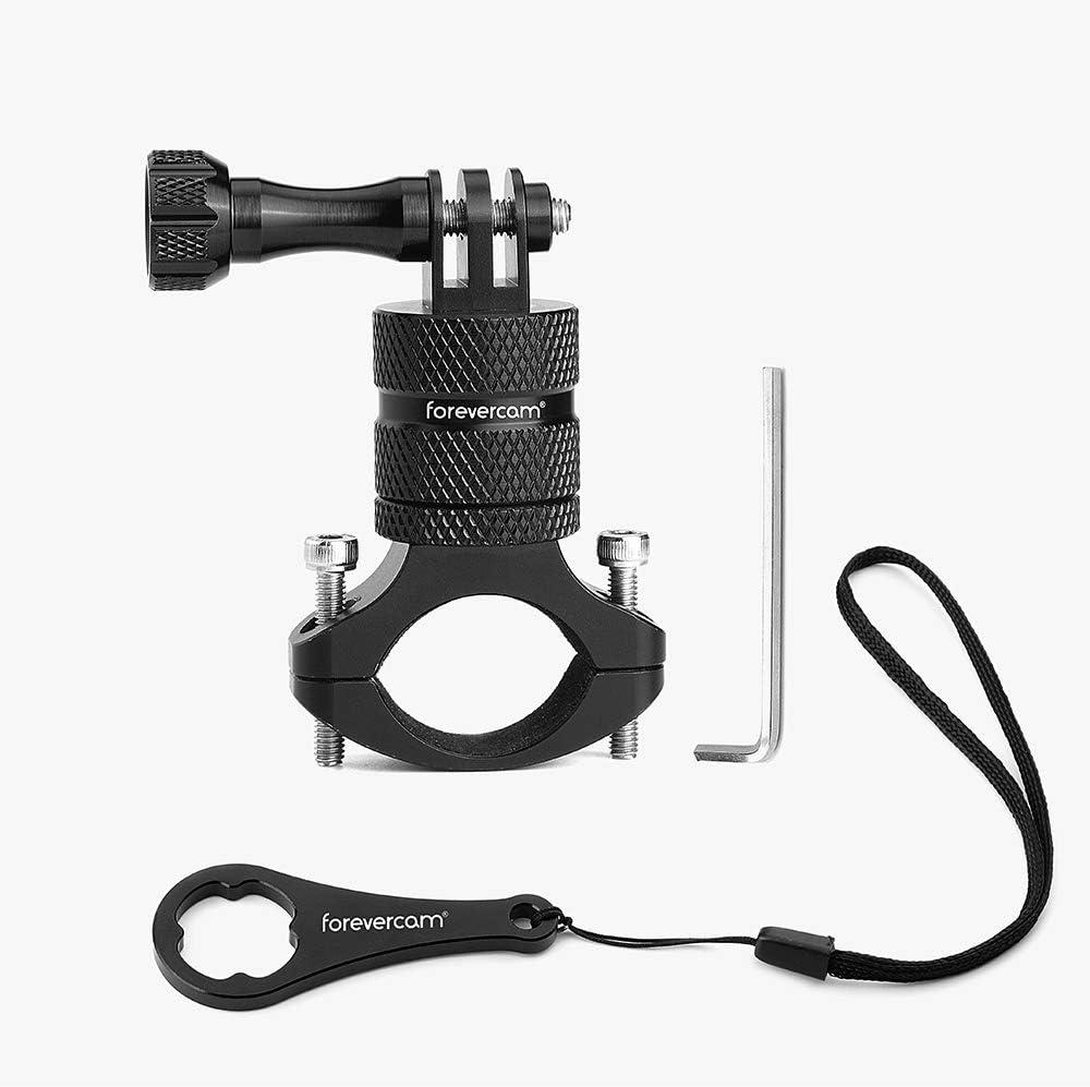 Mountain Bike Camera Handlebar,for All gopro Models/Action Cameras Mountain Bike Mount, Aluminium 360 Degree Rotation Upgraded Version by Forevercam
