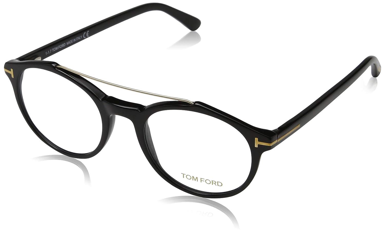 Tom Ford FT5455, Monturas de gafas para Hombre, (Negro Lucido), 50.0