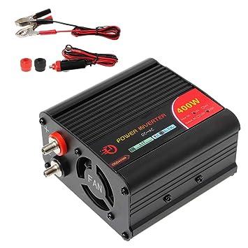 Runrain Inversor de Corriente de 400 W CC 12 V a 220 V AC para ...