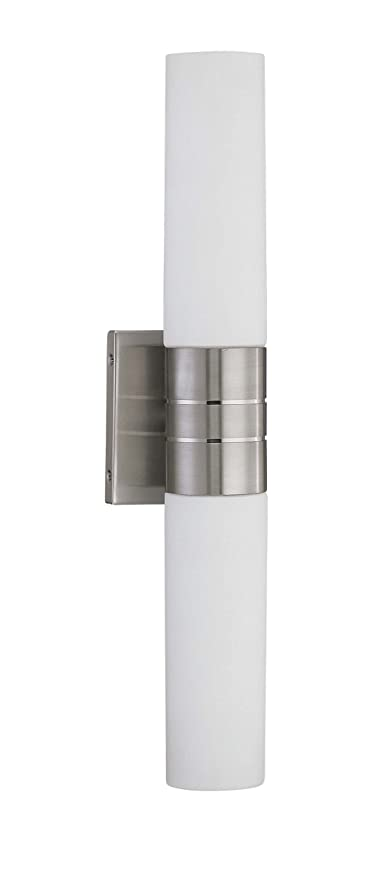 Nuvo Lighting 60 3955 Link 2 Light Double Tube Wall Sconce With White Glass