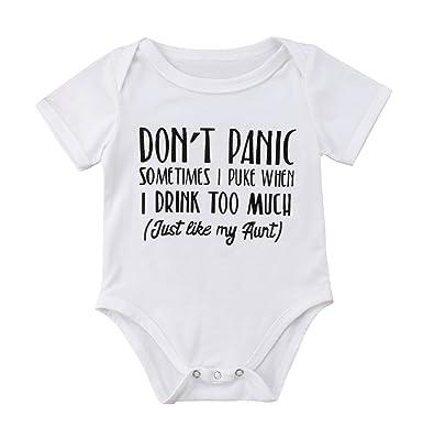 348ab7d3a4eee Amazon.com: Karuedoo Newborn Baby Boys Girls Funny Letter Print ...