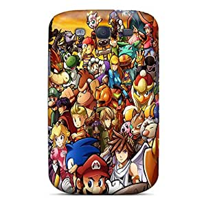 Anti-Scratch Cell-phone Hard Covers For Samsung Galaxy S3 With Allow Personal Design Fashion Super Smash Bros Wii Series ErleneRobinson