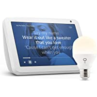 Echo Show 8, Tela de color gris claro + bombilla inteligente LIFX Blanco