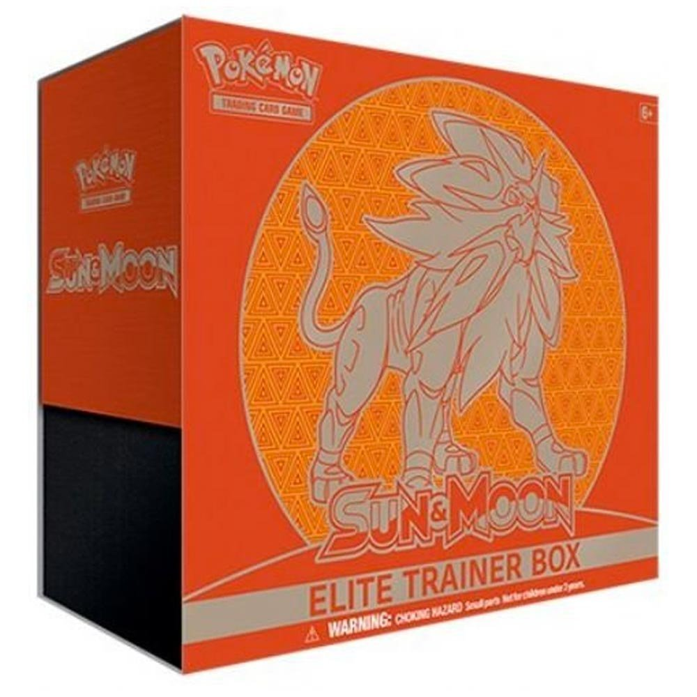 Pokemon Sun and Moon Elite Trainer Box, Legendary Solgaleo or Lunala