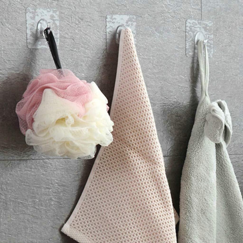 JYS Anti-skid Hooks - 2-20 Pcs Reusable Transparent Traceless Wall Hanging Hooks,Great for Kitchen Toilet Room Hanging Hooks (4Pcs) by JYS (Image #4)