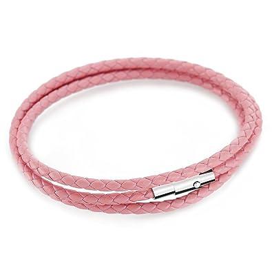 b2264093073 Bracelet Femme MANBARA Gainé de Cuir Bracelet Tressé Avec Fermeture  Magnétique Pour Les Hommes et Les