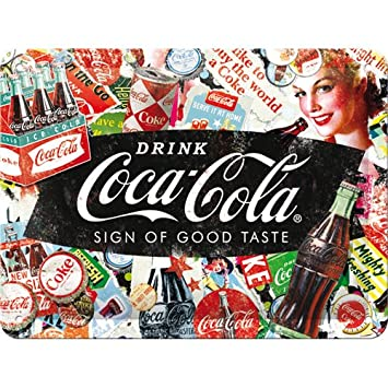 Amazon.com: Nostalgic-Art 26227 Coca-Cola-Collage, Metal ...