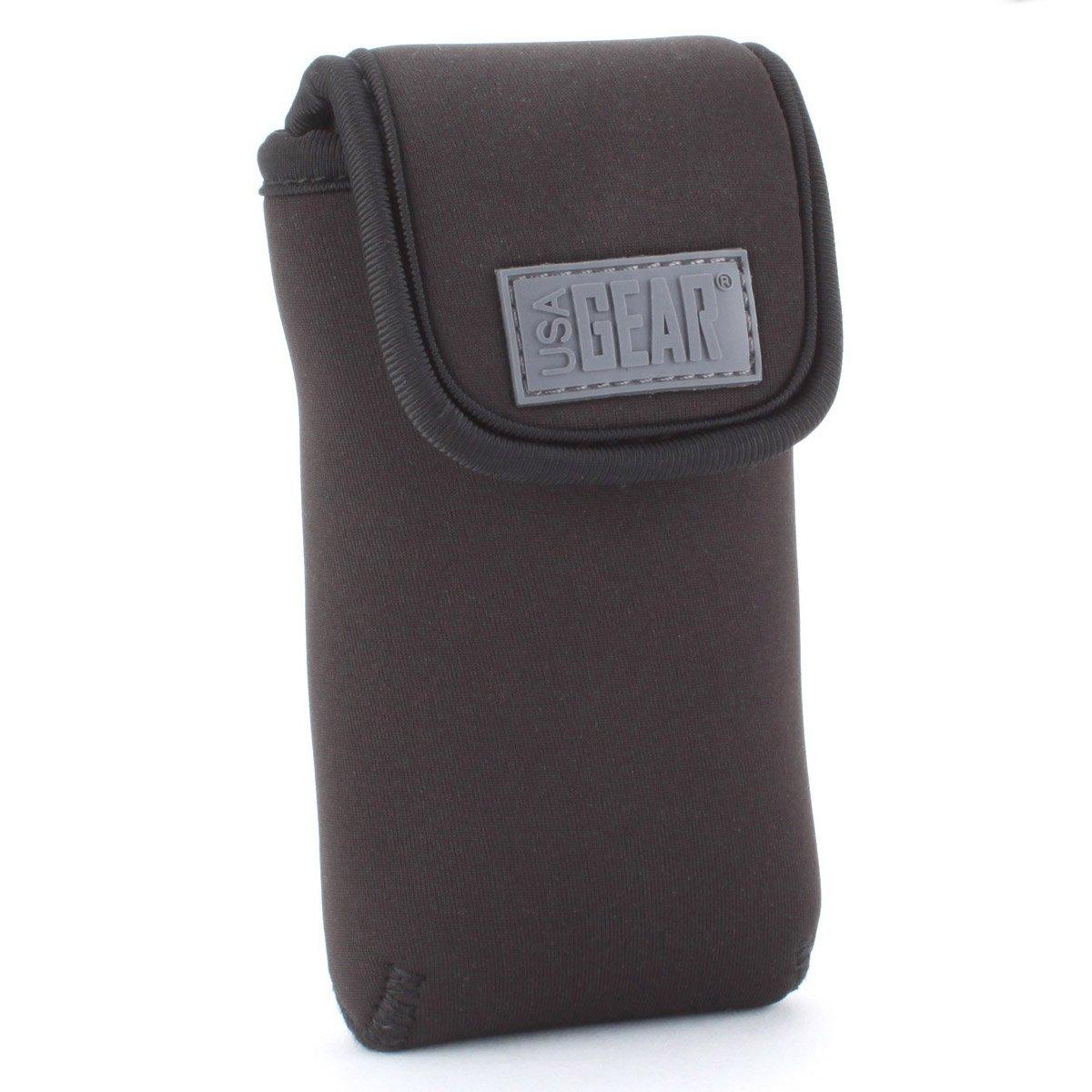 USA Gear Portable GPS Carrying Case for Garmin eTrex 10 Worldwide, 30x, Approach G8, Magellan eXplorist 350H and More Units - Built in Belt Loop, Carabiner Clip & Hook & Loop Enclosure