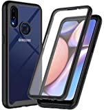 ONOLA Designed for Galaxy A10S Case,Three Defense Built-in Screen Protector Crystal Clear Full Body Shockproof Slim Fit Cover for Samsung Galaxy A10S Phone (Black)