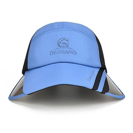 Gorra de protección solar macho verano visera retráctil gorra de protección  solar mujer sombrero de pesca 217dae3f946