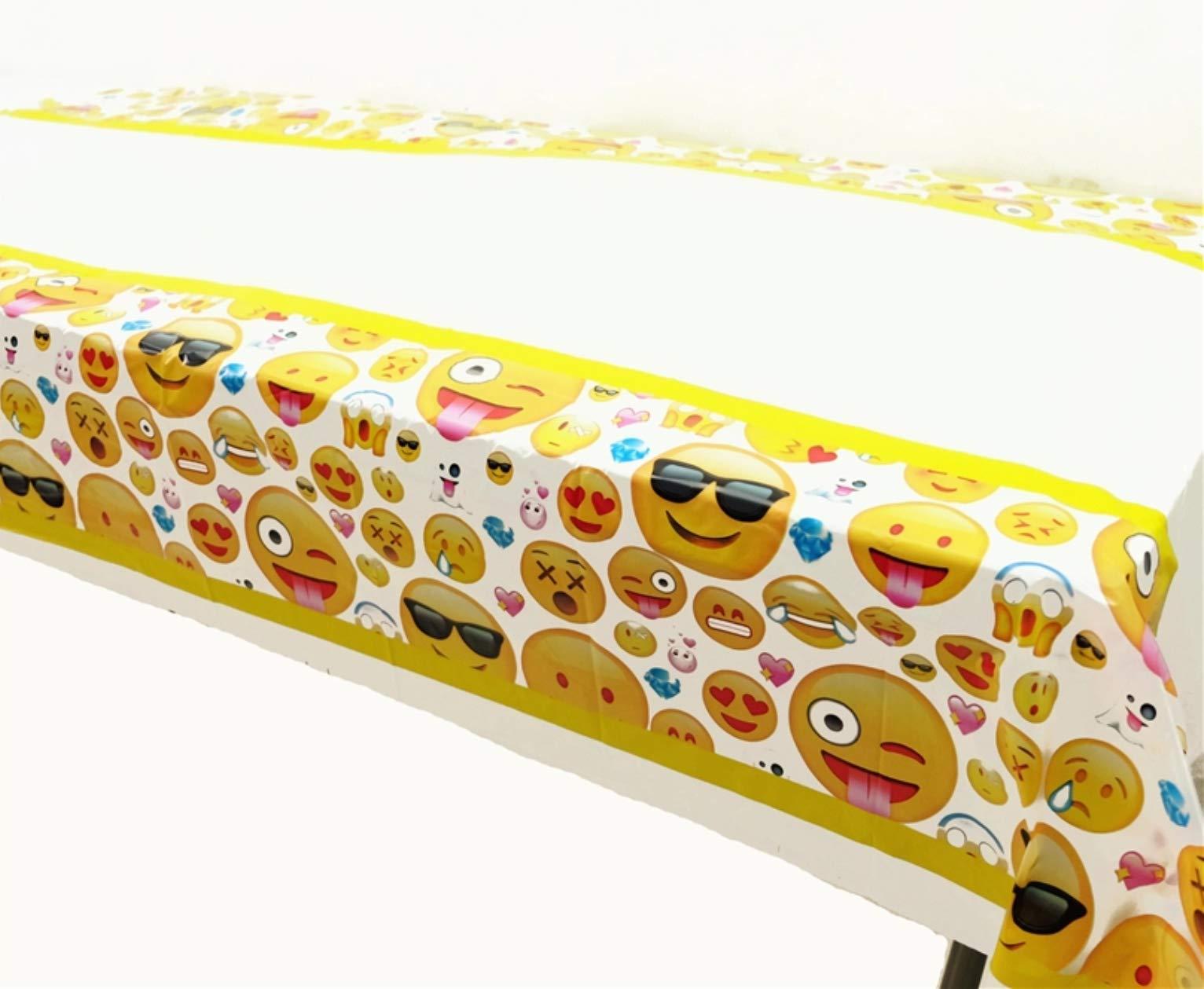 CharmTM Emoji set of 2 Party Tablecloths Plastic 71'' X 42.5'' Emoji Party Essentials