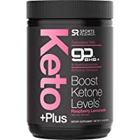 Keto Plus™ MCT Oil + Exogenous Ketones (BHB) ~ Get into Ketosis, Enhance Performance & Mental Focus ~ Vegan & Keto diet friendly, Non-GMO (Raspberry Lemonade)