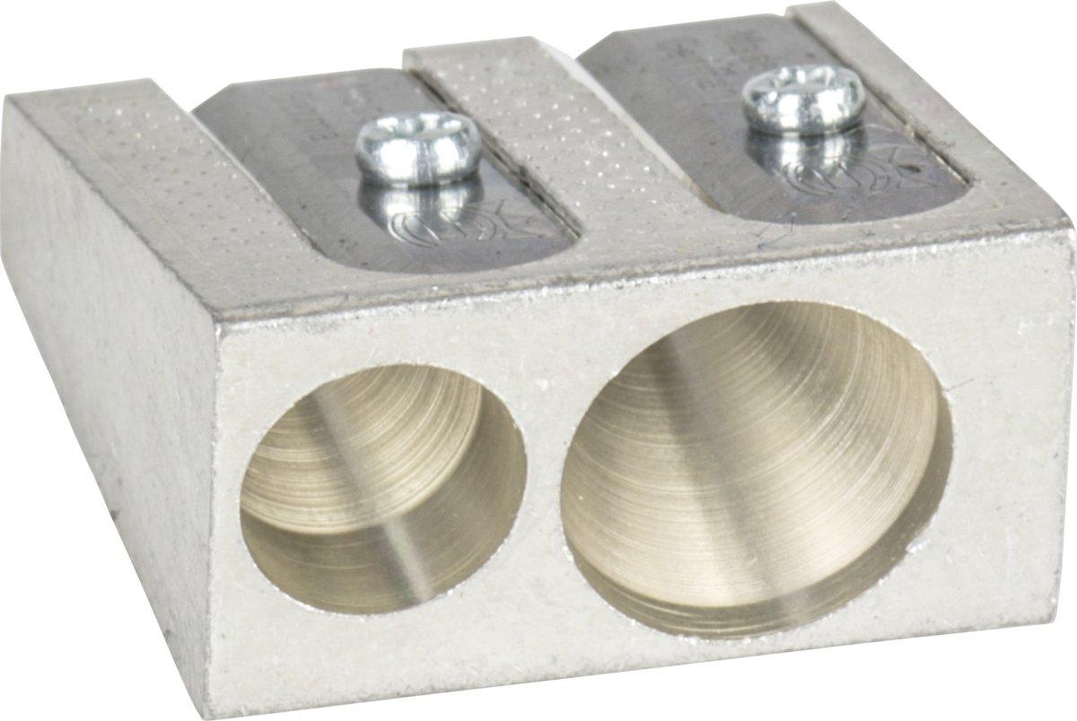 Brunnen 1029897 Spitzer aus Metall, Doppelspitzer, 2,5 x 2,5 x1,3 cm, für Stifte bis 11 mm Durchmesser) Baier & Schneider
