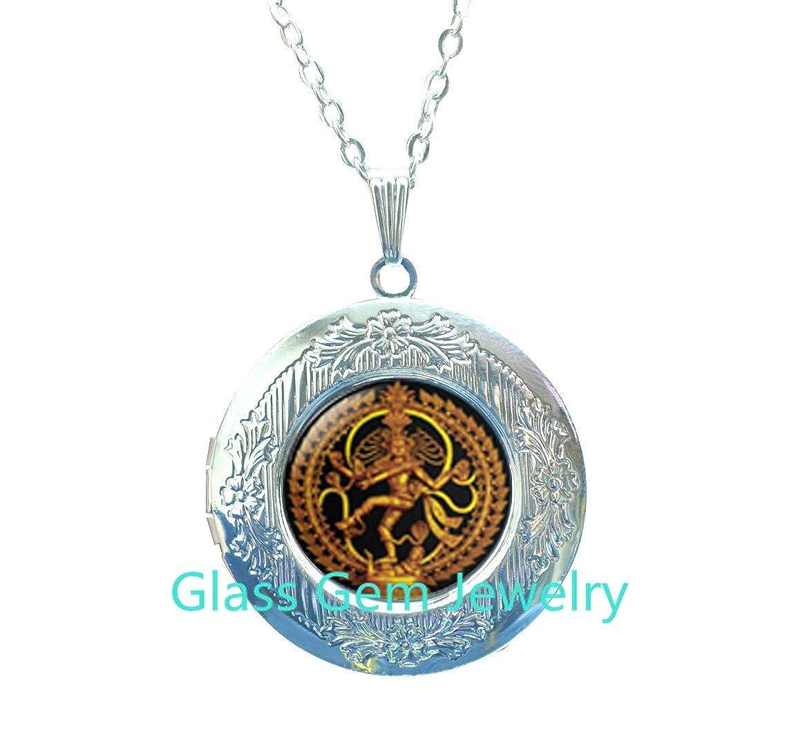 Nataraja Locket Necklace Dancing Shiva Locket Pendant Shiva Nataraja Spiritual Jewelry,Q0207 cosmic dancer Buddhist jewelry Statue of Dancing Shiva