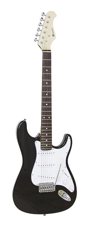 Set 2 x Guitarra eléctrica PATRON con accesorios, negro-blanco - 2 unidades de Guitarra para principiantes / Instrumento de cuerda - klangbeisser: ...