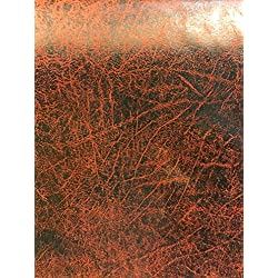 Coper Distressed Faux Leather Heavy Weight Upholstery Fabric Vinyl Sold By The Yard