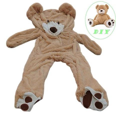 26ef68a6e17 Life Size Huge Plush Teddy Bear Unstuffed Soft Giant Animal Toy (63 inch   5.2