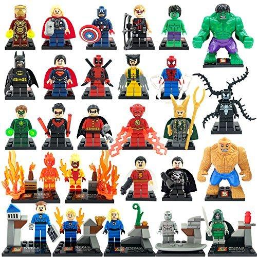 Marvel Super Heroes Building Block Sets 27 PCS / Minifigures Size 4.5 - 7 cm. Without Original boxes