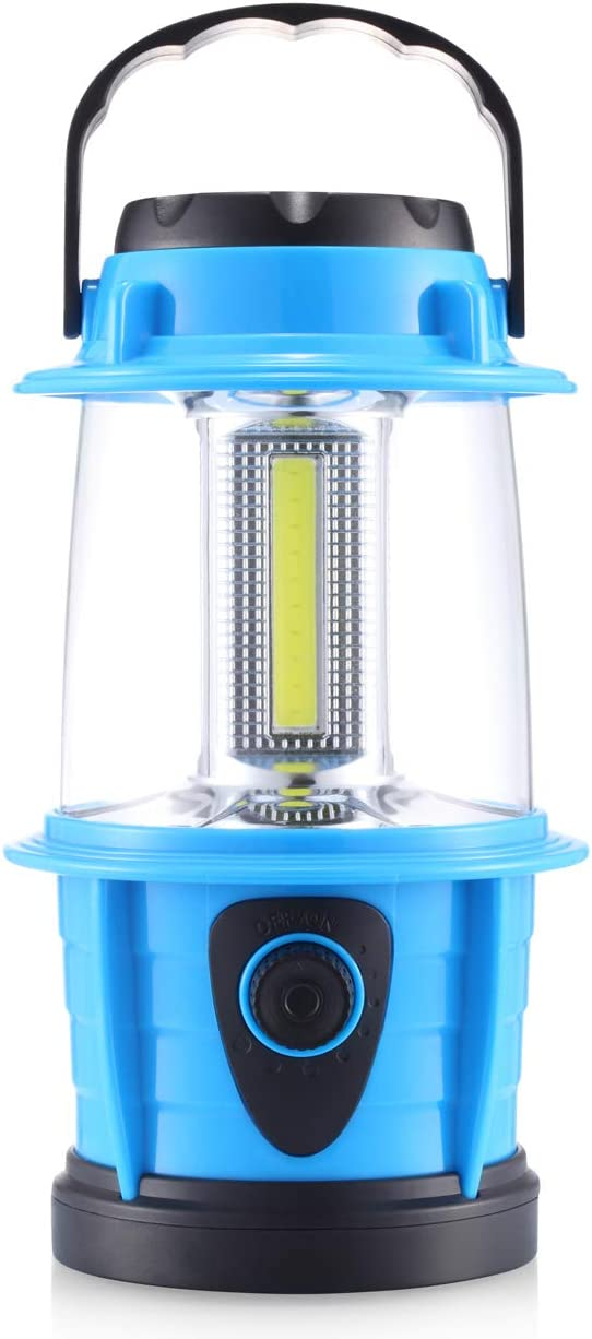 E-TRENDS Portable LED Camping Lantern Flashlight - Dimmable - Survival Kit for Emergency, Power Outage, Hurricane, Battery Powered: Sports & Outdoors