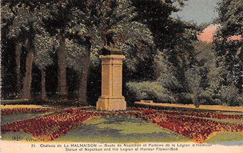 Buste de Napoleon et Parterre de la Legion d'Honneur La Malmaison France Postcard