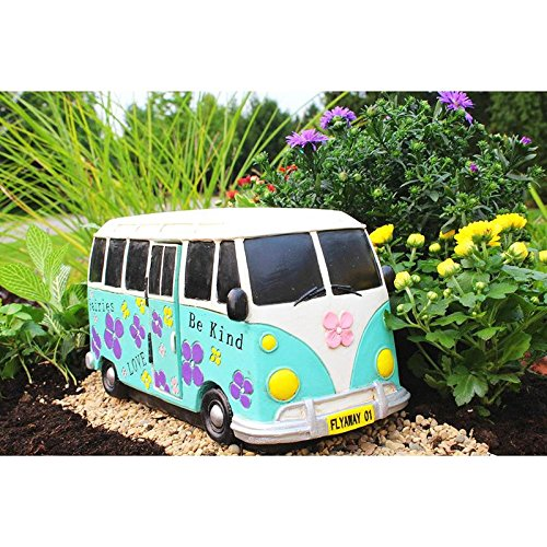 Miniature Fairy Garden House TIME TO DRIVE Minibus (Fairy Not Included) (NEW) - My Mini Garden Dollhouse Accessories for Outdoor or House Decor