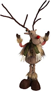 Cypress Home Beautiful Christmas Reindeer Posable Plush Table Top Décor - 5 x 24 x 6 Inches Indoor/Outdoor Decoration for Homes, Yards and Gardens