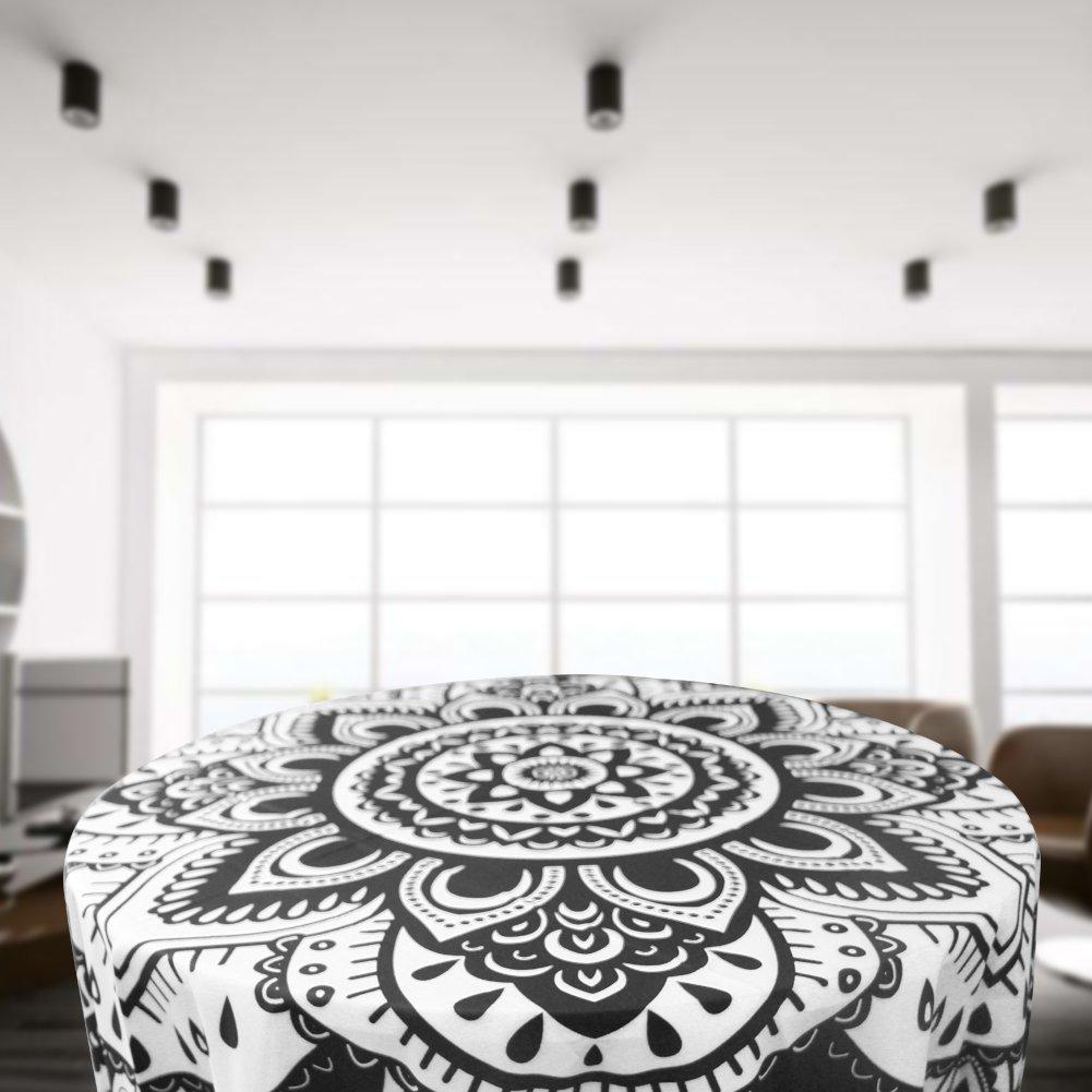 TanJean indische Mandala-Tapisserie schwarz /& wei/ß psychedelisch Wandbehang Dekorative b/öhmischen Dekor Wandteppiche Doppelt Bettdecke Bettlaken Tischdecke Yoga-Matte Strandtuch-Decke 60 x 60 Zoll
