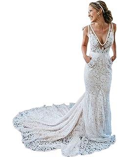 c8ae409ca7 Amazon.com: Usstore Women Lace Maxi Dress Sexy V-Neck Sleeveless ...