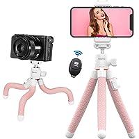 VIJIM MT-19 Phone Tripod Kit, Mini Flexible Tripod w Wireless Remote & Phone Tripod Holder, Standard 1/4'' Screw & Cold…