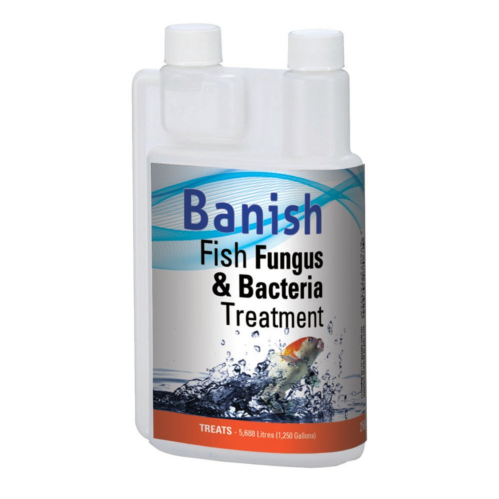 Banish Fish Fungus and Bacteria Treatment 1 Litre Industrial Leisure