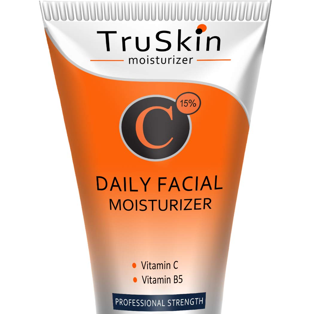 BEST Vitamin C Moisturizer Cream for Face, Neck & Décolleté for Anti-Aging, Wrinkles, Age Spots, Skin Tone, Neck Firming, and Dark Circles. 2 Fl. Oz by TruSkin Naturals