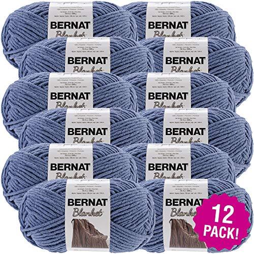 Bernat 99634 Blanket Big Ball Yarn-Country Blue, Multipack of 12, Pack by Bernat (Image #2)