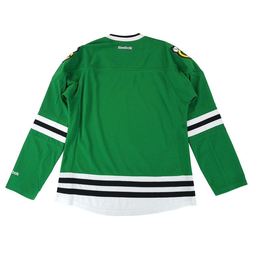 Amazon.com   Chicago Blackhawks NHL Green St. Patricks Day Premier Edge  Jersey For Women   Clothing abb896c43