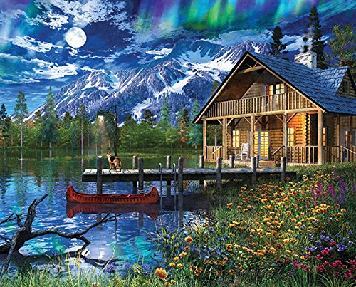 Springbok Puzzles - Moon Cabin Retreat Jigsaw Puzzle - 1000 Pieces - Large 30 inch by 24 inch Puzzle