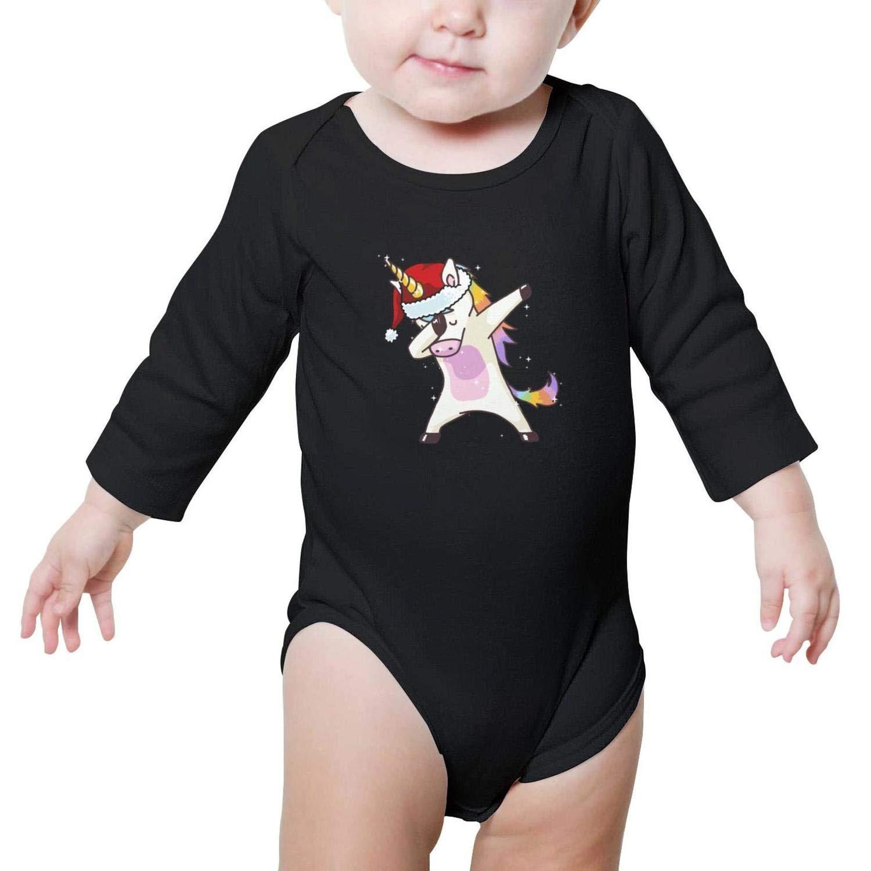 Dabbing Unicorn Hip Hop Dab Santa Hat Christmas Baby Girls Beautiful Newborn Clothes