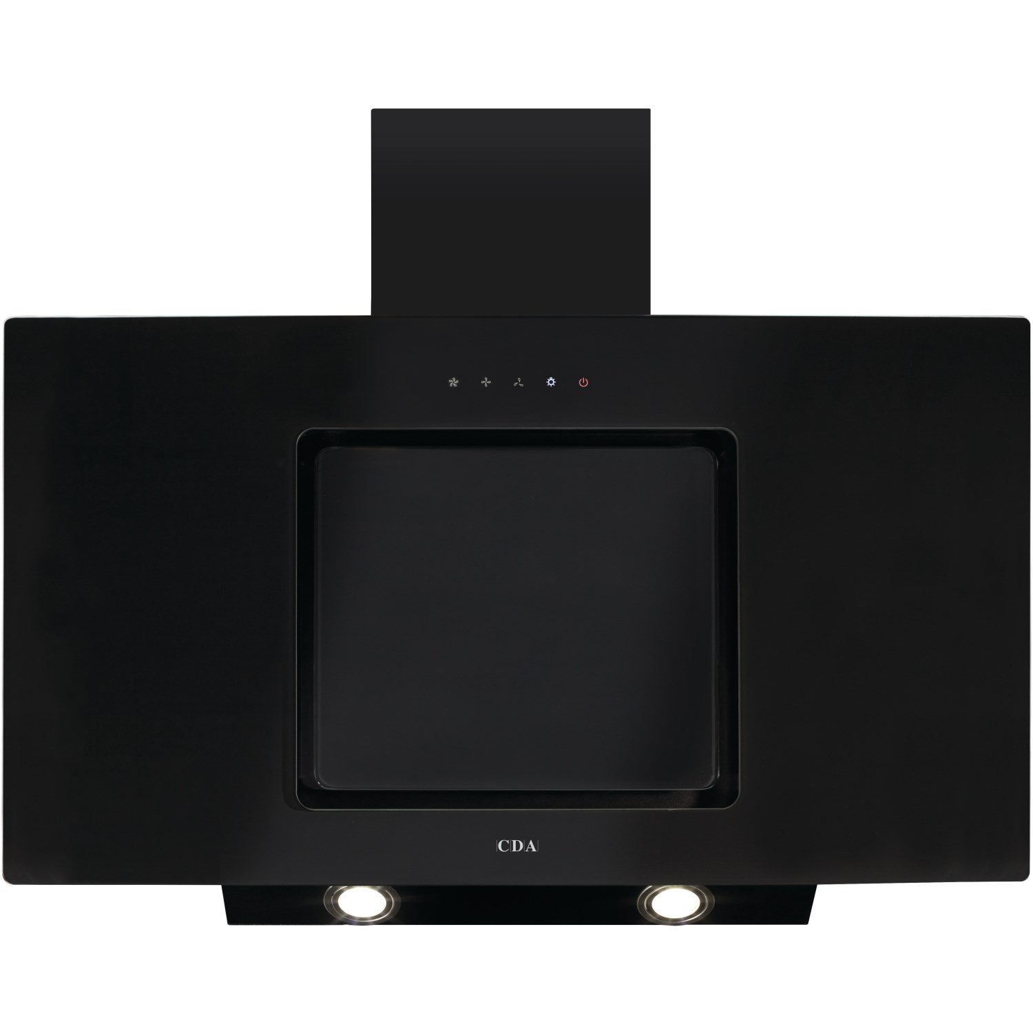 CDA EVA90BL Cooker Hood Chimney Extractor Angled 90cm Black