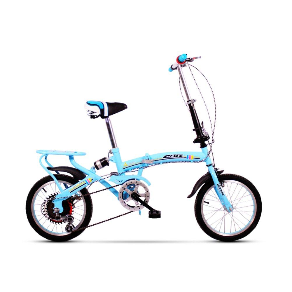 学生折りたたみ自転車, 折りたたみ自転車 レジャー 型ディスク ブレーキ シマノ 6 速 子 旅行 折り畳み自転車16inch B07DFHVKM4