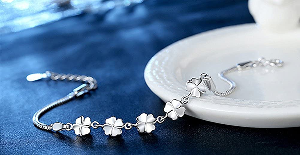 Dylandy 1PCSThirteen Hanging Bracelets Stylish Silver-Plated Bracelet Inspired Heart Lock Key Pendant Bracelet Couple Lovers Souvenir Unisex