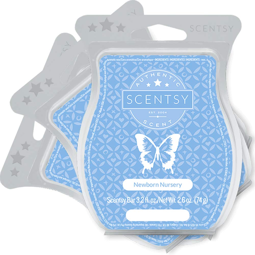 Scentsy, Newborn Nursery, Wickless Candle Tart Warmer Wax 3.2 Oz Bar, 3-pack (3)