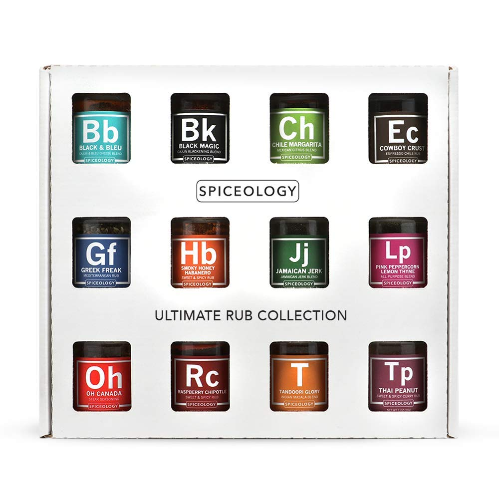Ultimate Rub Collection - Spiceology Set of 12 Gourmet BBQ Spice Rubs