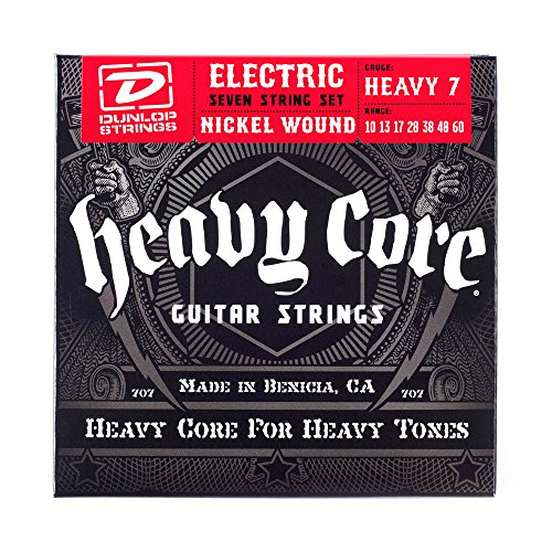 UPC 710137051423, Dunlop DHCN1060 Heavy Core Nickel Wound Guitar Strings, Heavy, .010-.060, 7 Strings/Set