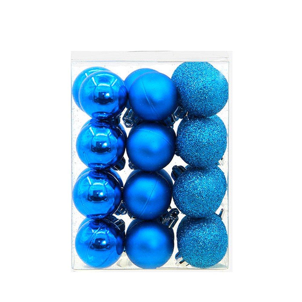 Bestow Bola navideña, árbol de Navidad, Adornos Decoraciones navideñas para el árbol Decoración navideña Colgante (tamaño Libre, Azul): Amazon.es: Ropa y ...