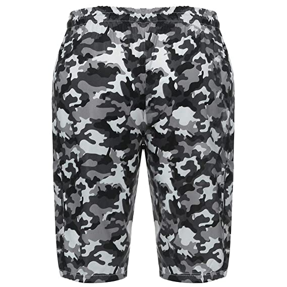 fdeaa7db0724 Amazon.com  Handsome Camouflage Men s Swim Trunks Water Sport Quick Dry  Drawsting Pocket Beach Swimming Shorts  Clothing