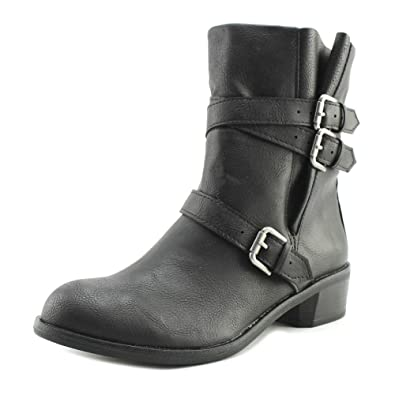 Womens Baxten Leather Round Toe Ankle Fashion Boots