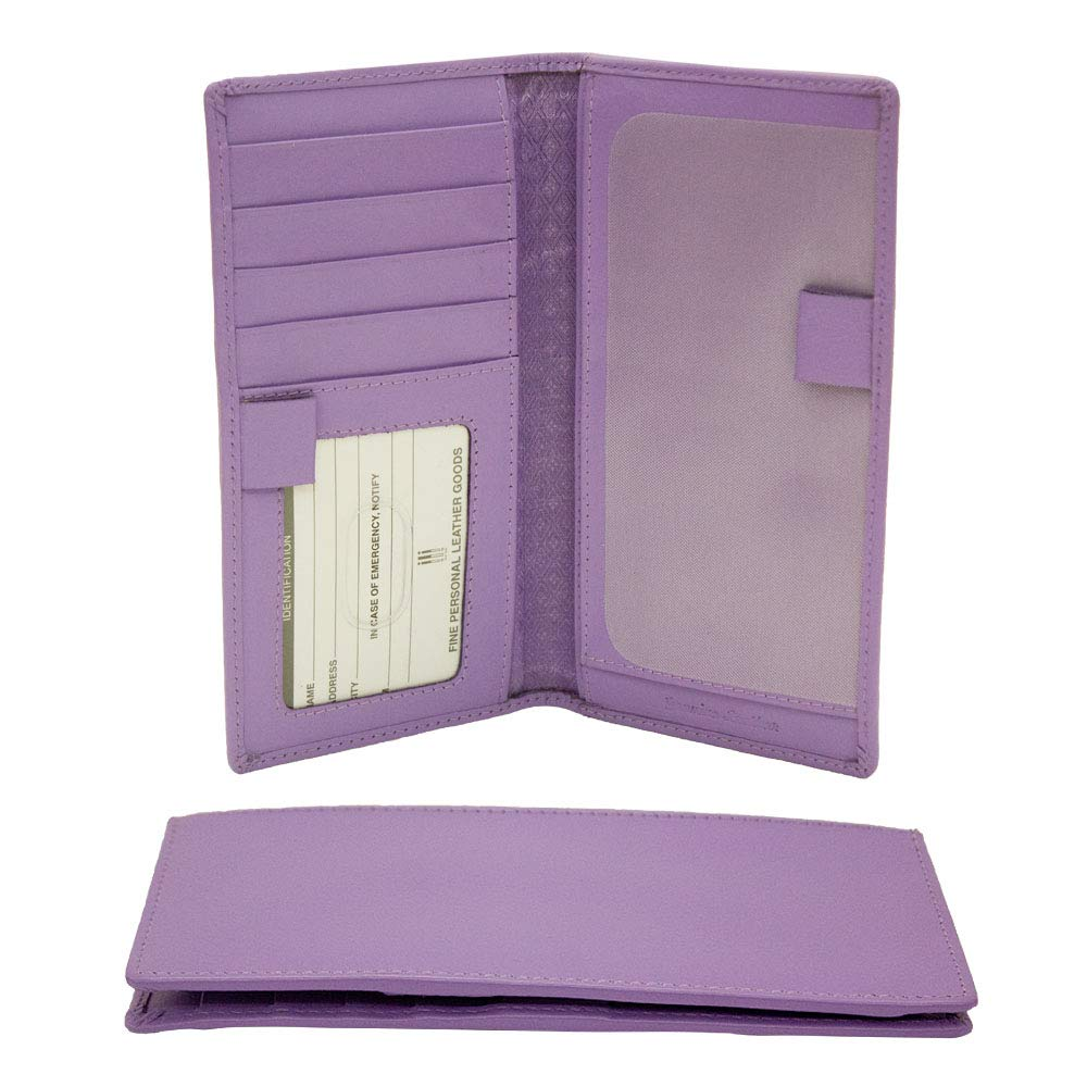 ili New York 7406 Leather Checkbook Cover (Amethyst) by ili New York