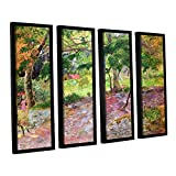 Paul Gauguin's Tropical Landscape, Martinique, 4 Piece Floater Framed Canvas Set 36X48 Paul Gauguin Tropical Landscape, Martinique, 4 Piece Floater Framed Canvas Set A high quality print reproduction of an oil on canvas. This landscape painting is a ...